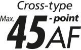 45 all cross type AF